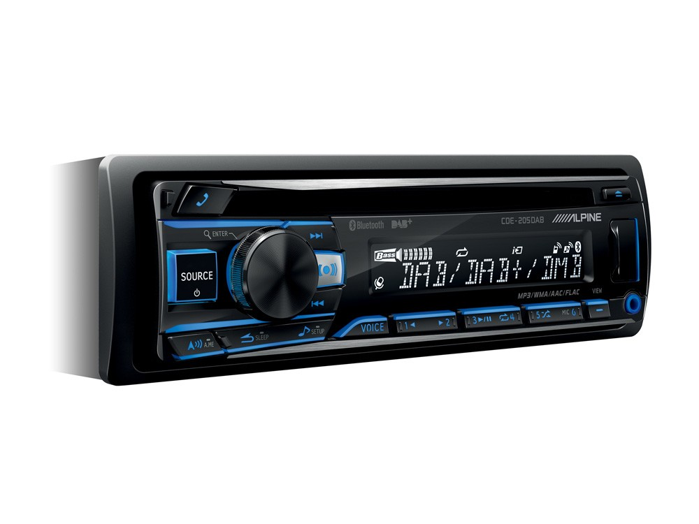 alpine cde 205dab autoradio 1 din con cd usb radio dab. Black Bedroom Furniture Sets. Home Design Ideas