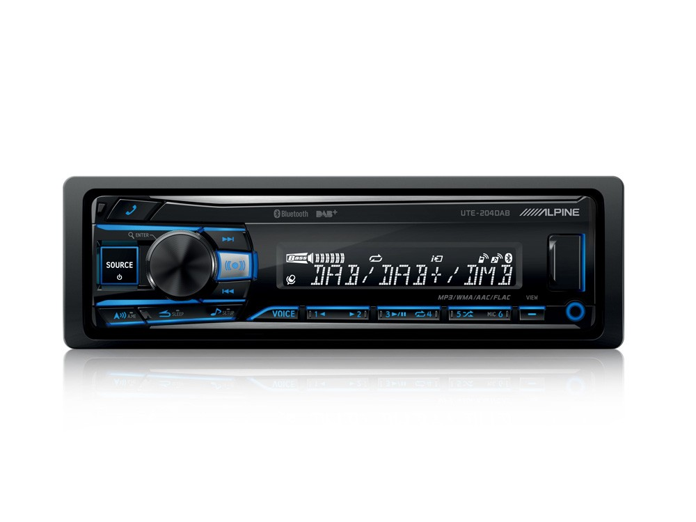 alpine ute 204dab autoradio 1 din con usb radio dab e. Black Bedroom Furniture Sets. Home Design Ideas