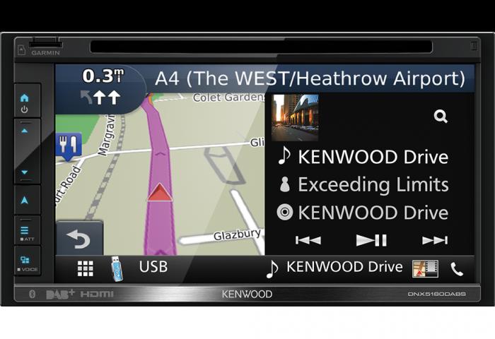 Kenwood DNX5180DABS autoradio 2 DIN DAB+ con GPS, Apple carplay / Android  Auto / Bluetooth / Spotify / Waze Link / HDMI