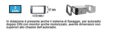 PHONOCAR 3//649 Mascherina Grigio metallizzato 2DIN SSANGYONG Rexton '13