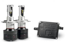 Phonocar 07402 kit luci auto a Led H4 07502 più interfaccia CAN BUS 07562