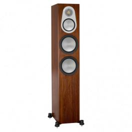 Monitor Audio SILVER 300 6G diffusori da pavimento a 3 vie reflex posteriore 200watt coppia-NOCE