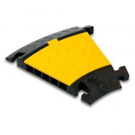 Pedana proteggi cavo a 5 canali Master Audio CP5, angolo a 30° (3 pezzi formano un angolo 90°).