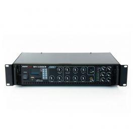 Amplificatore filodiffusione 100V a 6 ZONE Master Audio MV1100CR 100 Volts / 8 ohm + lettore MP3 e radio FM