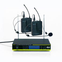 Master Audio LWM1604T Radiomicrofono ad archetto VHF display LCD