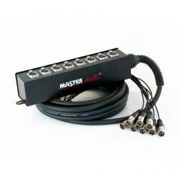Stage box 8 prese XLR SSC08/10 Master Audio 3 poli 10MT