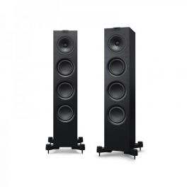 KEF Q550 Diffusori da pavimento High End NERO Black Ash Vinyl 130W (COPPIA)