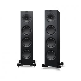 KEF Q750 Diffusori da pavimento High End NERO Black Ash Vinyl 150W (COPPIA)