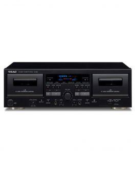 TEAC W-1200 BLACK doppio registratore a cassette, mixaggio microfonico, uscita digitale USB