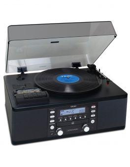 TEAC  LP-R550USB BLACK lettore CD-Recorder / Casette / Giradischi All-in-one system