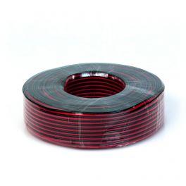 Cavo piattina 2x1.5mmq rosso/nero rocchetta da 100 metri Master Audio QX5100/1.5