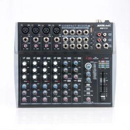 Master Audio MM1210 Mixer compatto con effetti 4 canali MONO + 4 canali STEREO e ingresso USB