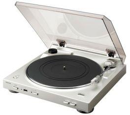 DENON DP-200USB Giradischi automatico con USB, trasforma tracce in MP3! SILVER -  GAR. ITALIA