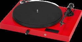 PRO-JECT Juke Box E Giradischi all-in-one amplificato Plug & Play, ROSSO