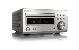 DENON RCD-M41 Sintoamplificatore Micro HiFi con CD, Bluetooth e Radio, SILVER