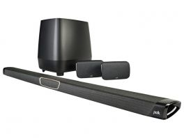 POLK AUDIO MagniFi MAX SR Sistema 5.1 composto da Soundbar, subwoofer wireless e coppia di satelliti posteriori wireless (SR1)