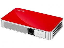 VIVITEK Qumi Q3 Plus Videoproiettore WiFi Tascabile LED DLP WXGA, 1.280x720, batteria integrata 8000 mA - ROSSO