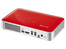 VIVITEK Qumi Q38 Videoproiettore WiFi Tascabile LED DLP 1080p, 1.920x1.080, batteria integrata 12.000 mA - ROSSO