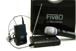MONTARBO FIVEO WIP100C F2 RADIOMICROFONO VHF ARCHETTO + GELATO 181,900 MHz
