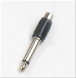 Adattatore presa RCA - spina Jack 6,3 mm mono HY1723 Master Audio in ABS e metallo: presa RCA