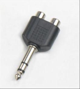 Adattatore 2 prese RCA - spina Jack 6,3 mm stereo HY1751 Master Audio in ABS e metallo