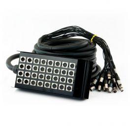 Stage box  MasterAudio SSC248/25 con 24 prese + 8 spine da pannello XLR 3 poli