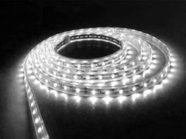 Striscia BSLWH Master Audio Striscia ALTA LUMINOSIT CON FONDO NERO flessibile a 300 LED colore BIANCO FREDDO - bobina da 5 metri