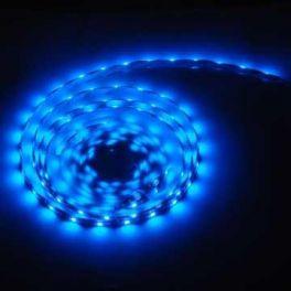 Striscia WSLB Master Audio  CON FONDO BIANCO flessibile a 300 LED colore BLU - bobina da 5 metri - 24W