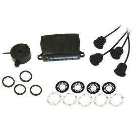 Alkor AK8C004 kit a 4 sensori di parcheggio omologati E8 con Buzzer