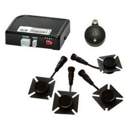 Kit Alkor AK8C008 4 sensori parcheggio anteriore o posteriore flush mount con buzzer LED omologato E13