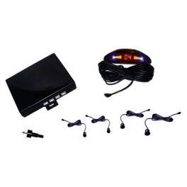 Alkor AK8C012 Kit 4 sensori parcheggio posteriore clip on con buzzer e display omologato ECE R-10