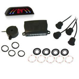 Alkor AK8C005 kit completo 4 sensori di parcheggio posteriore omologato E8 con buzzer e display