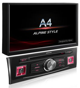 Alpine X703D-A4 autoradio 2 din per Audi A4, mappe TomTom, Apple CarPlay e Android Auto