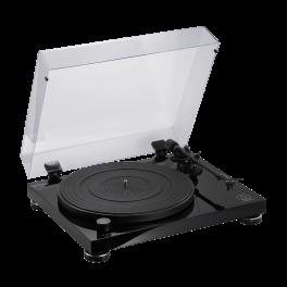Audio Technica AT-LPW50PB Giradischi hifi testina AT-VM95E, stadio PHONO, nero lucido