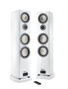 Canton SMART VENTO 9 diffusori acustici BIANCO lucido da pavimento attivi con connessione wireless (COPPIA)