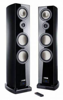 Canton SMART VENTO 9 diffusori acustici nero lucido da pavimento attivi con connessione wireless (COPPIA)
