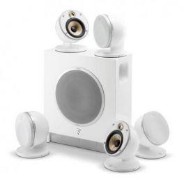 "Focal DOME PACK FLAX 5.1 sistema composto da 5 diffusori Dome ""FLAX"" + Sub Air 150 W, bianco"