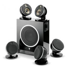 """Focal DOME PACK FLAX 5.1 sistema composto da 5 diffusori Dome + Subwoofer attivo, nero, woofer """"FLAX"""" 100 W"""