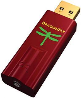 AUDIOQUEST DRAGONFLY RED Convertitore DAC USB Hi-Fi | Riproduce qualunque formato audio | 96kHz/24 bit, alta uscita (2,1V)