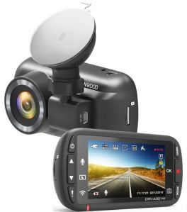 Kenwood DRV-A301W Dash cam Full HD con sensore G a 3 assi, GPS e collegamento wireless