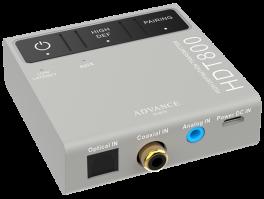 ADVANCE ACOUSTIC HDT800 Trasmettitore wireless bluetooth con Aptx HD e supporto nativo per formati ad alta risoluzione pcm 24 bit