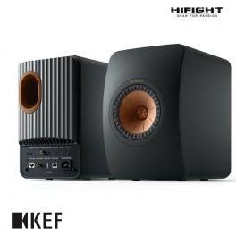 KEF LS50 Wireless 2 Nero Carbonio diffusori attivi wireless da scaffale HiFi controllo via APP (COPPIA)