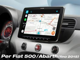 Alpine ILX-F903D-312-B Media Station 9'' per FIat 500 con DAB, Apple CarPlay e Android Auto, colore NERO