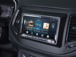 Alpine INE-720JC autoradio 2 DIN per Jeep Compass con GPS e mappe, Apple CarPlay e Android Auto