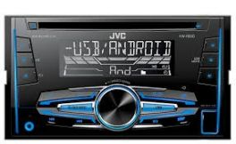 JVC KW-R520 Autoradio 2 DIN con CD, USB e Aux, MP3 WAV FLAC