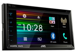"JVC KW-V620BTE Autoradio 2 DIN resistivo da 6,8""  DVD/CD/USB, ingresso HDMI e Bluetooth"