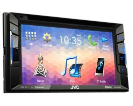 "JVC KW-V230BT 2 DIN DVD/CD/USB Receiver 6.2"" Clear Resistive Touch Control, Built-In Bluetooth"