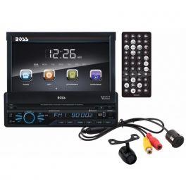 BOSSAUDIO BVB9967RC Sintomonitor 85x4 watt 1DIN DVD Frontalino estraibile con Bluetooth + Retrocamera compresa!