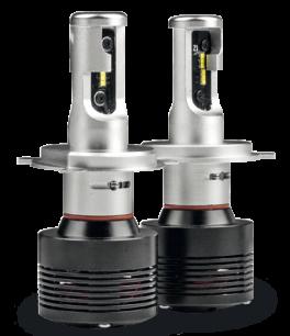 Fari LED H4 abbaglianti / anabbaglianti Phonocar 07502 LAMPADINE 4000LM (COPPIA)