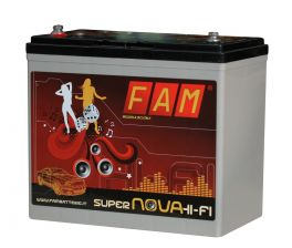Batteria FAM 55 Supernova HI-FI SPL 55Ah, 550A